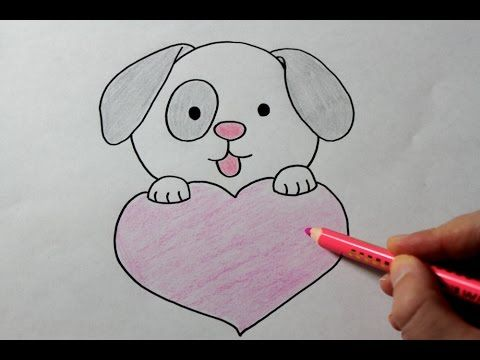 puppy drawing how to draw a puppy with love heart easy vitlt com