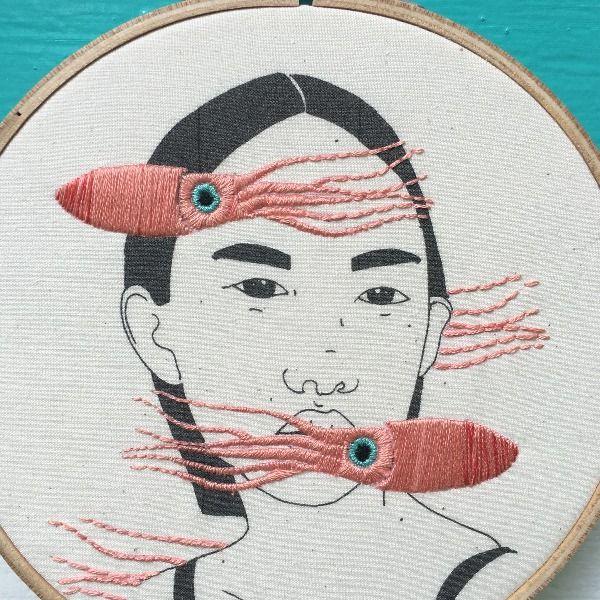 Odd Ana Stitch Portland Or Art Bordado En Bastidor Hoop