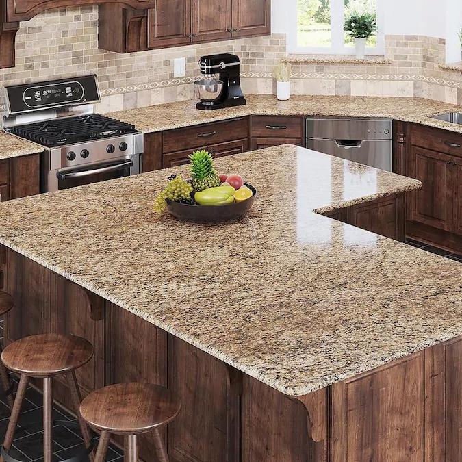 Allen Roth Santa Cecilia Granite Kitchen Countertop Sample Lowes Com Granite Countertops Kitchen Granite Kitchen Kitchen Countertop Samples