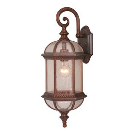 Cascadia Lighting Chateau 21 5 In H Royal Bronze Outdoor Wall Light 3471975 Outdoor Wall Lighting Outdoor Walls Lighting