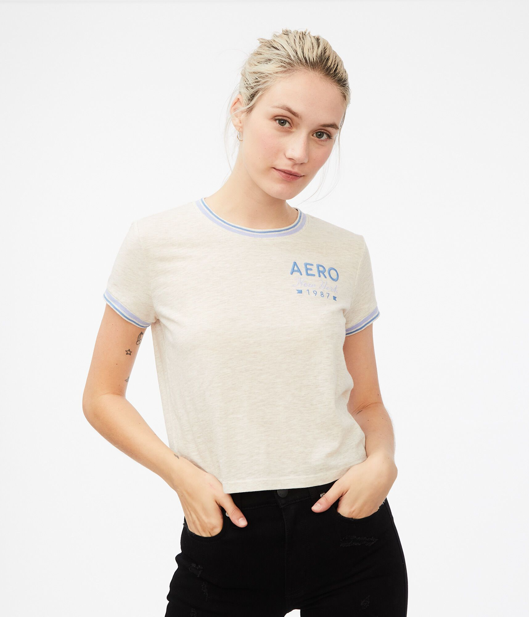 Tees - A throwback look with an Aero spin.***Only Available Online - female - Cotton
