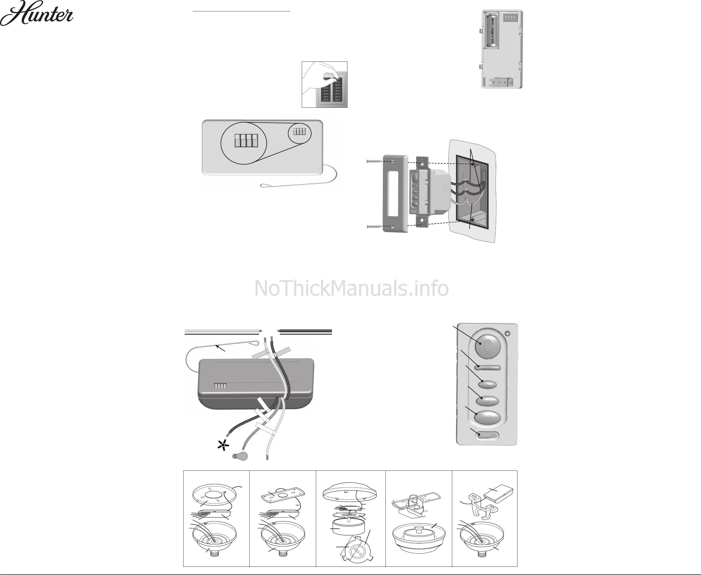 ... Hunter Fan Light Switch 27186 Compliance Info Rh Ca 1 Way Wiring ...
