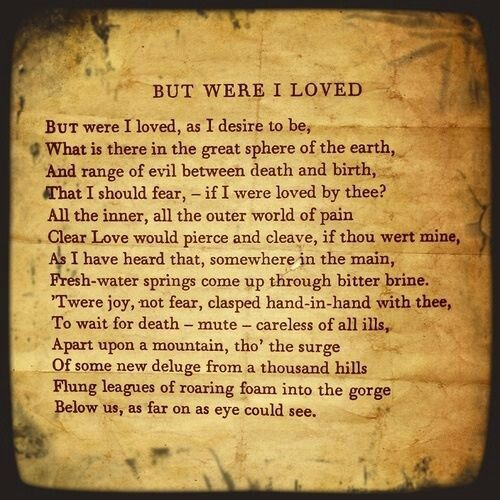 But were I loved