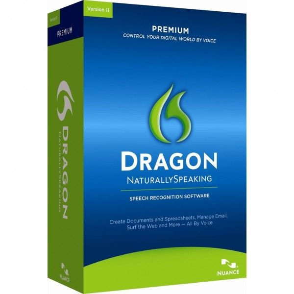 Dragon Speak Home, Premium  Dictate Dragons and Headset