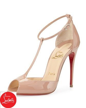 251835eeac5c Senora Patent T-Strap Red Sole Sandal