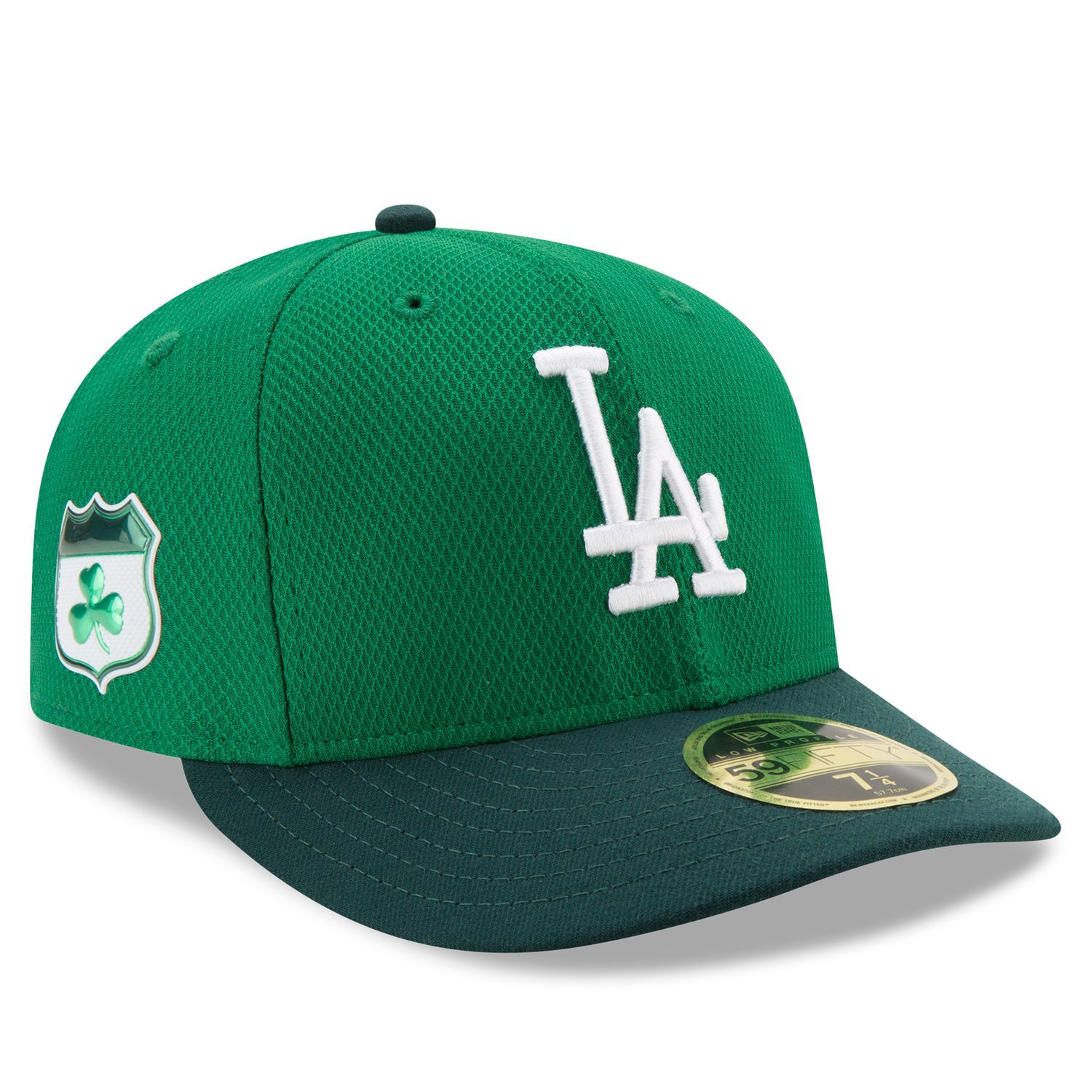 c998318a866 Men s Los Angeles Dodgers New Era Green 2017 St. Patrick s Day Diamond Era  59FIFTY Low Profile Fitted Hat