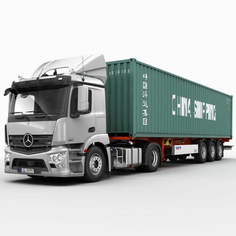 Mercedes Antos Container 3d Model Ad Antos Mercedes Model Container Model Truck Kits Mercedes Mercedes Models