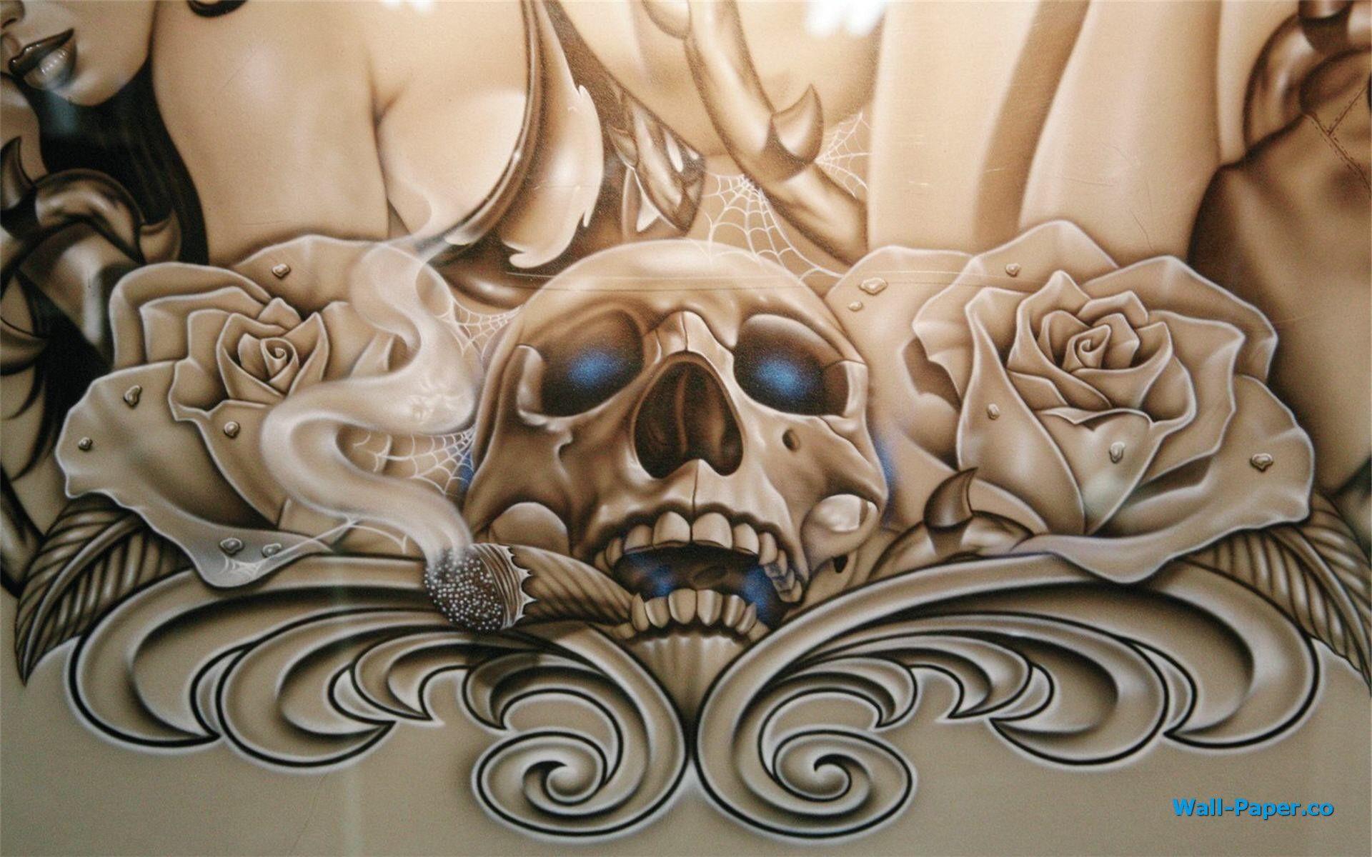 Lowrider Arte Hd Wallpaper Icewallpaperscom Page Part Tattoo Art Wallpapers Wallpaper Hd Free Download For Walls Tumblr Andro Airbrush Skull Skull Lowrider Art