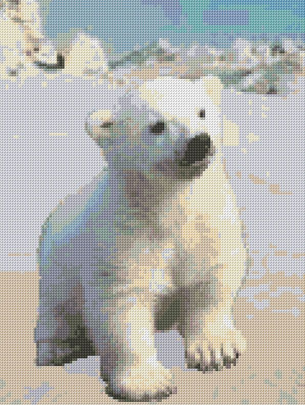 Cross Stitch | Polar Baby Cub xstitch Chart | Design