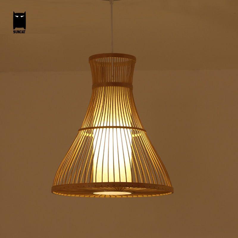 Aliexpress Acheter Bambou En Osier Rotin Pendentif Luminaire - lustre pour salle a manger