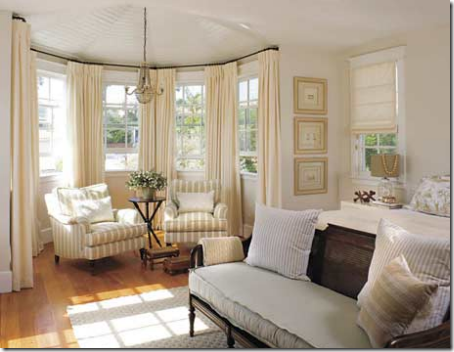 Bay Window Treatment And Sitting Area