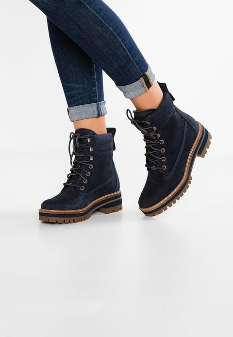 7edf50672e66 Chaussures Timberland COURMAYEUR VALLEY BOOT - Bottines à lacets - dark blue  bleu foncé  209