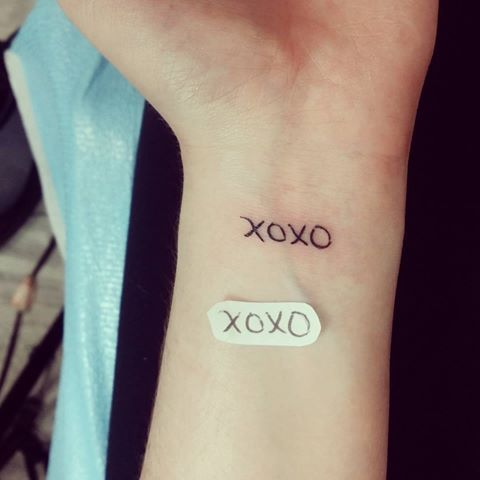 Mom S Writing For Xoxo Tattoos For Daughters Xo Tattoo Inspirational Tattoos