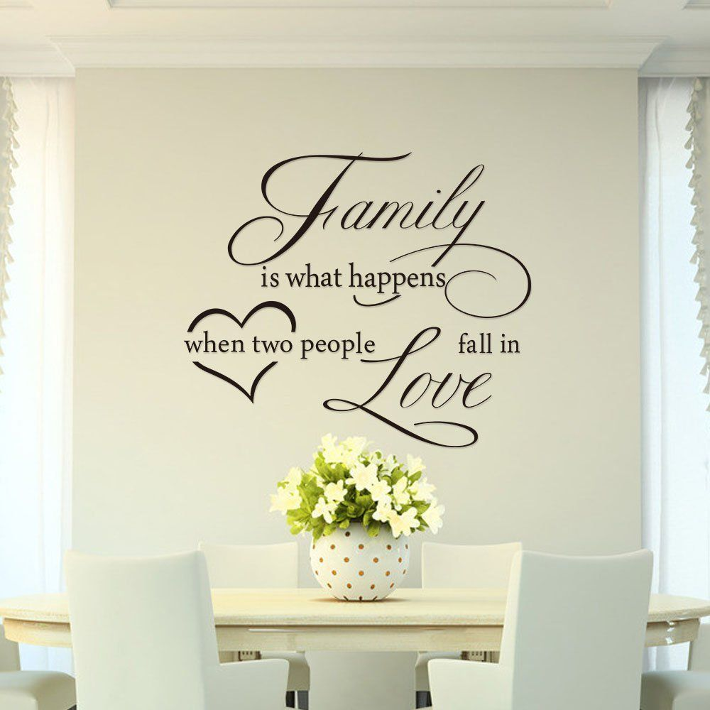 Mercurymall stickers muraux la famille family si what - Stickers muraux pour salon ...
