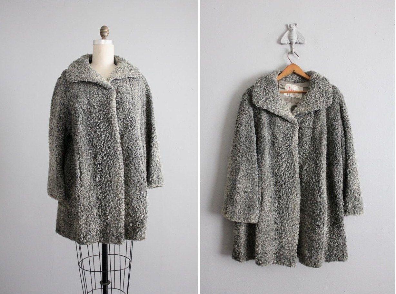 1940s vintage gray curly lamb coat | Vintage Clothing | Pinterest ...