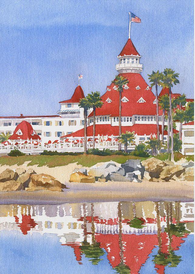 Hotel Del Coronado Reflected By Mary Helmreich