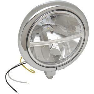 Drag Specialties Led 5 3 4 Inch Diameter Bottom Mount Headlight Assembly