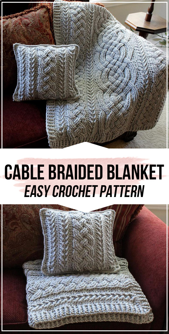 Photo of crochet Irish Lullaby Cable Braided Blanket pattern –  – #Blanket #Braided #Cabl…