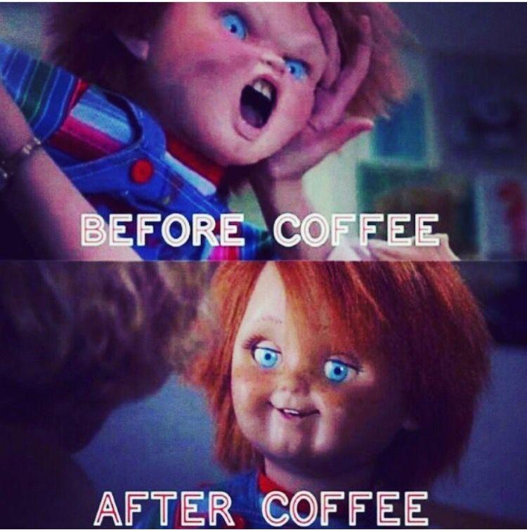 Chucky Coffee Funny Horror Chucky Doll Scary Movies
