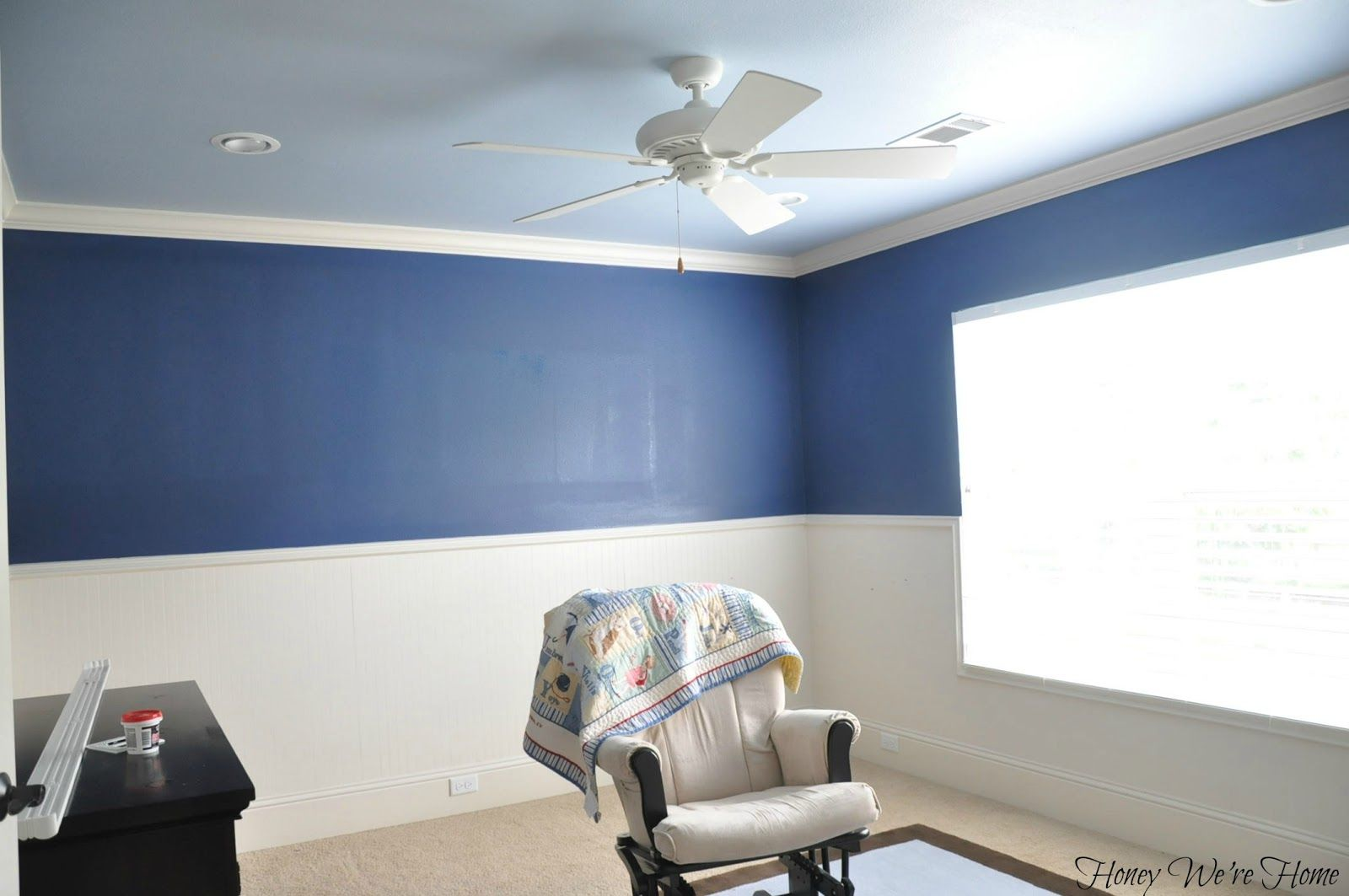 Honey Were Home: Big Boy Room Paint - darker blue for the boys