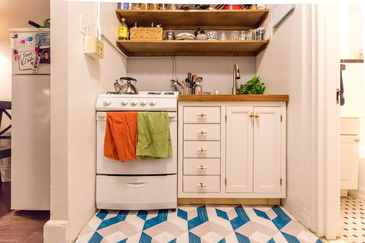 Can You Spot The Ingenious Storage Space In This Kitchen Rental