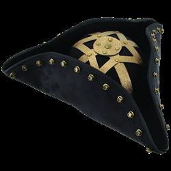 Pirate Hat With Brass Trim Pirate Hats Black Beard Pirate Pirate Costume Accessories