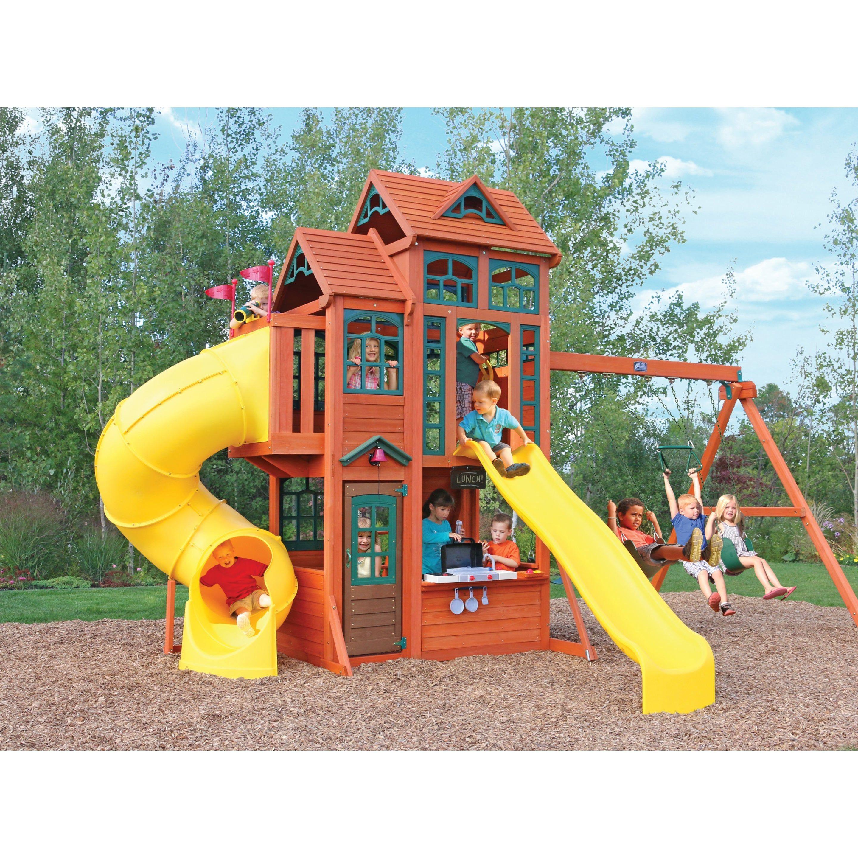 Aire De Jeux Bois Kidkraft Canyon Ridge En 2020 Aire De Jeux Bois Aire De Jeu Enfant Aire De Jeux