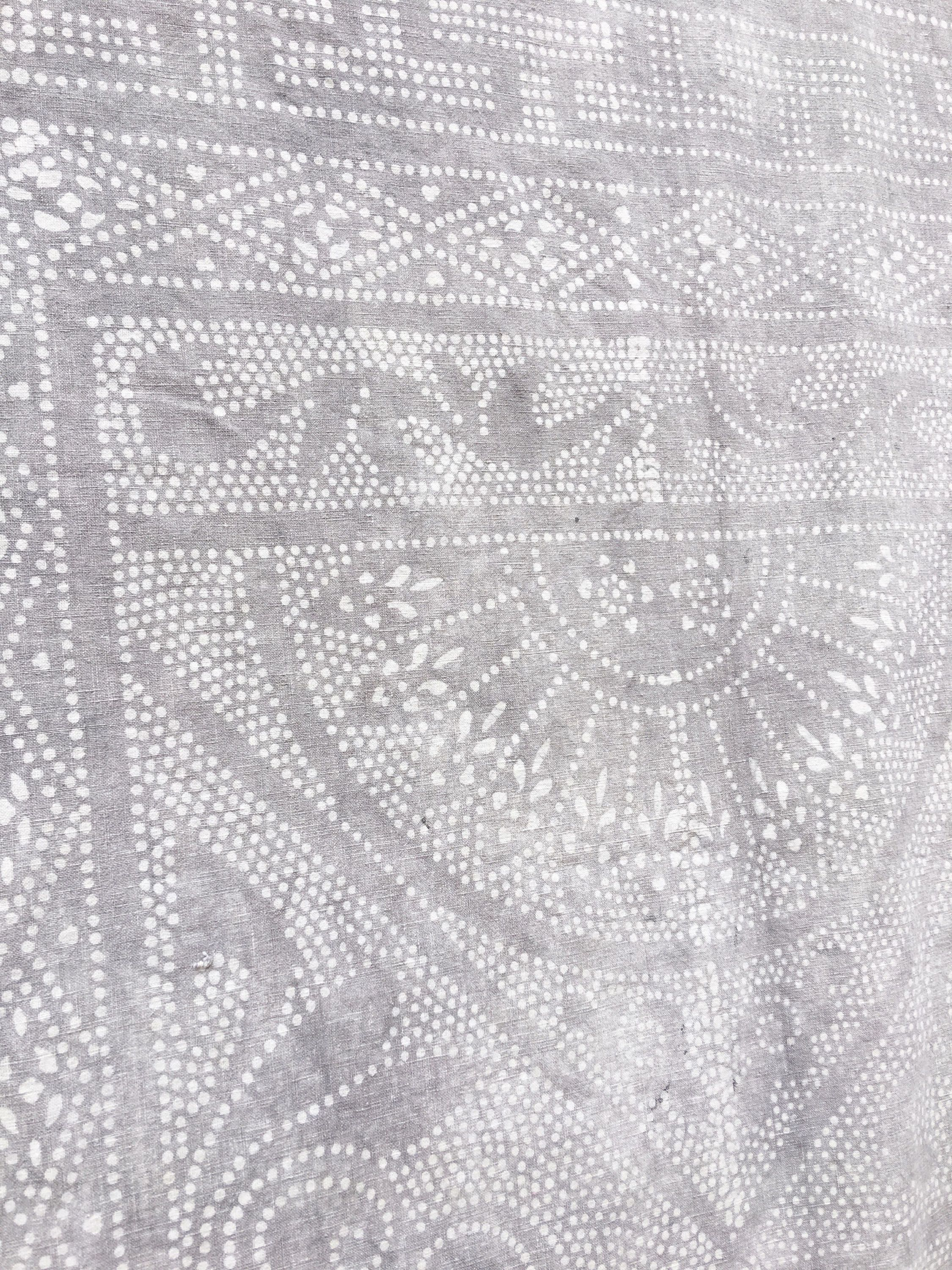 Gray silver Boho Fabric Vintage Chinese Batik Textile Boho Material Chinoiserie fabric one of a kind Asian indigo & shibori Pinterest
