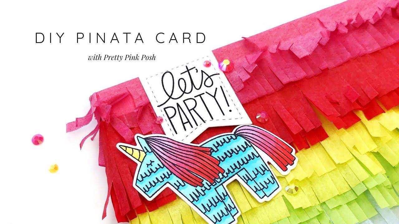 diy pinata card  paper art projects cards