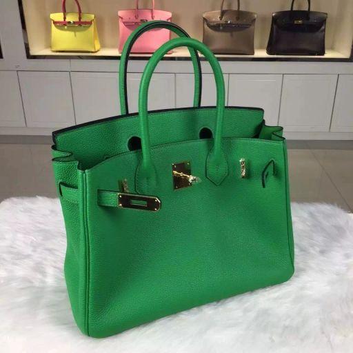 663d08696339 Hermes birkin 30CM togo leather 1K bamboo green bag