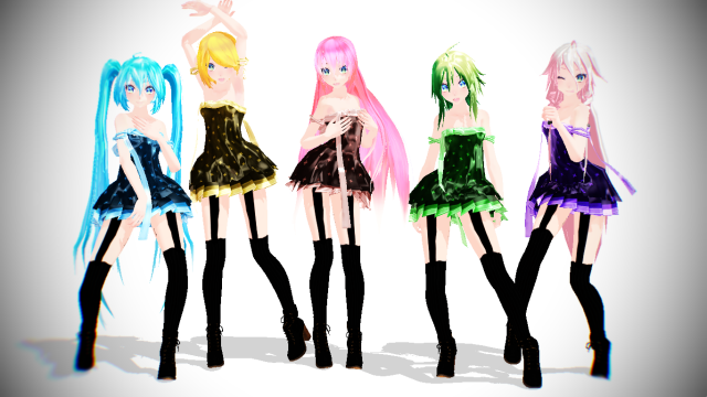 Mmd vocaloid girls dance sexy