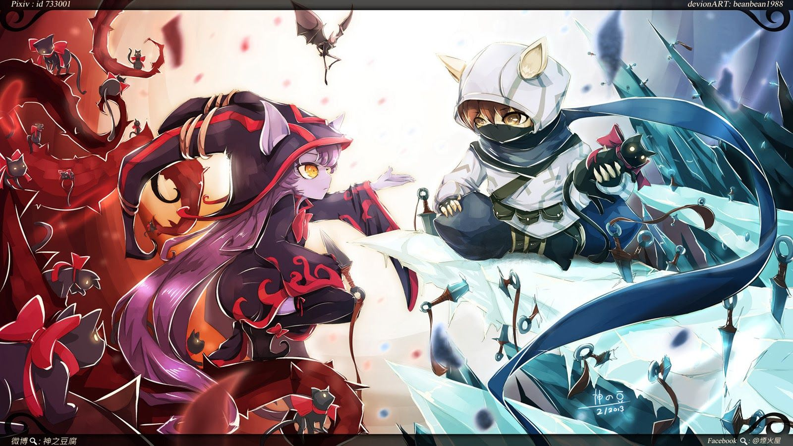 900 X 480 Pictures League Of Legends Kennen Lulu League Of