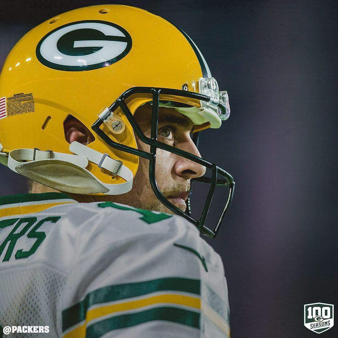 Aaron Rodgers Looks On Green Bay Packers Green Bay Packers Fans Green Bay Packers Football