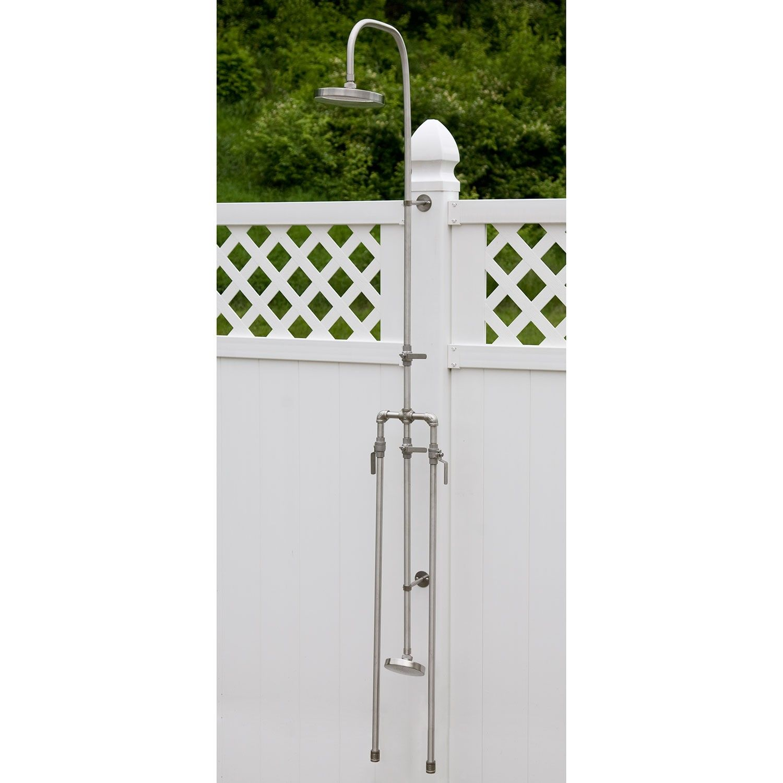 Deluxe Outdoor Shower Mixer With Foot Shower Outdoor Showers