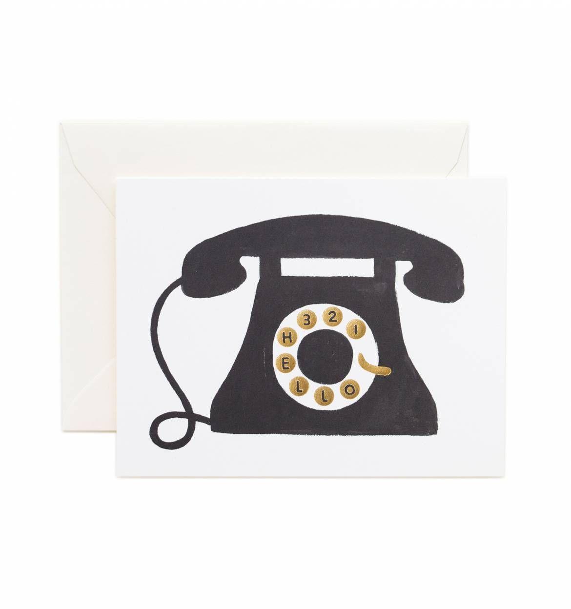 Hello Telephone Greeting Card Telephone Illustration Art And Artsy