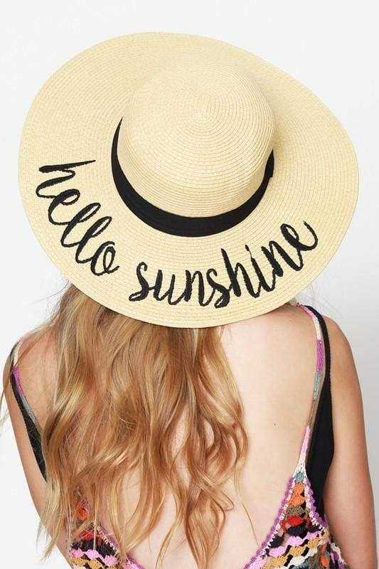 42d81c6a527 CC Embroidered Wide Brim Vacation Floppy Sun Hat | Products | Floppy ...