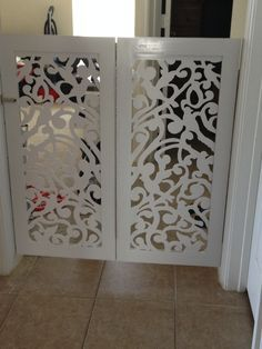 DIY Custom Pet Gate. Latice panels are from Home Depot web site ...
