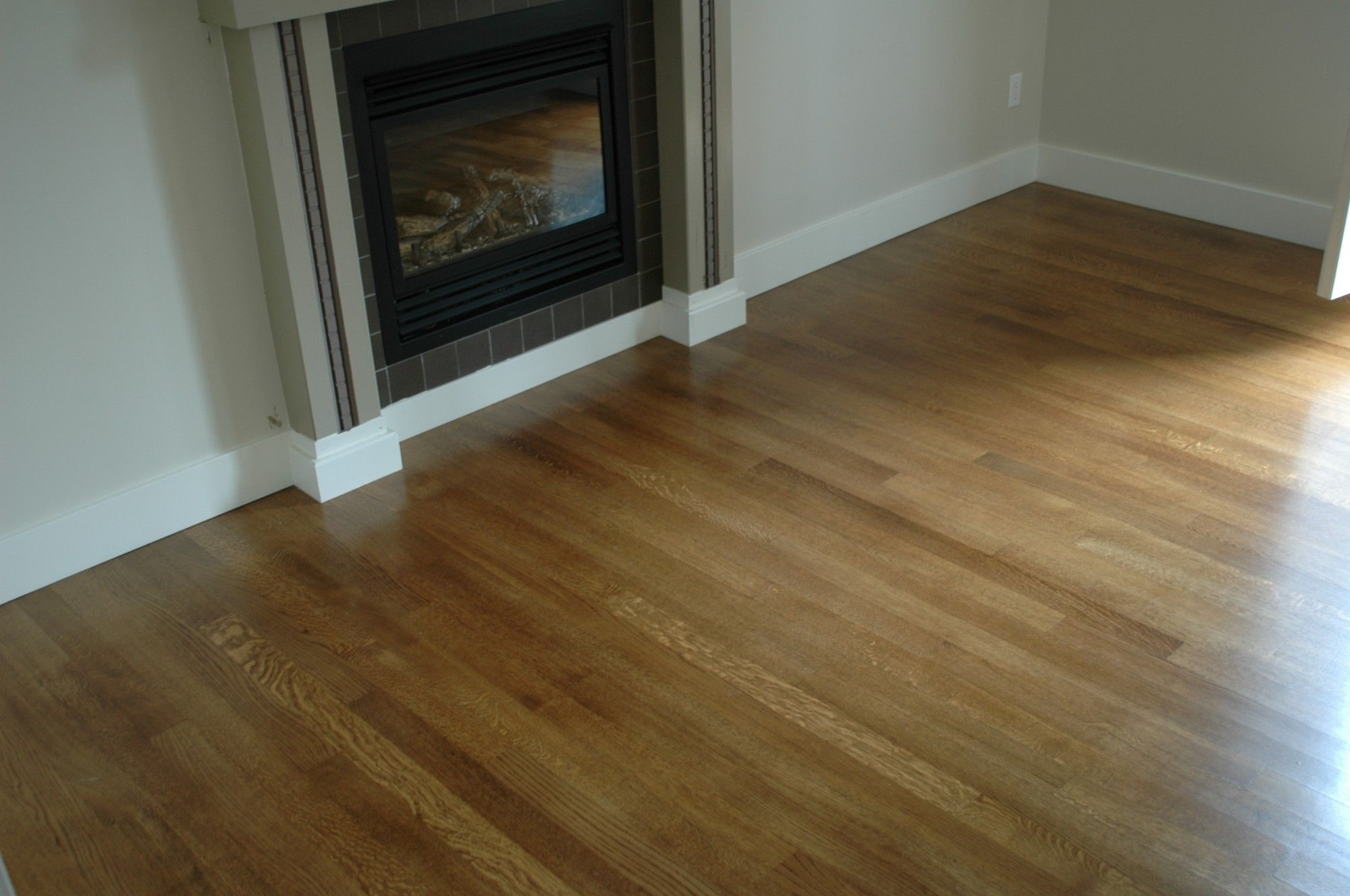 White Oak stained Medium Brown, this is my floor! So