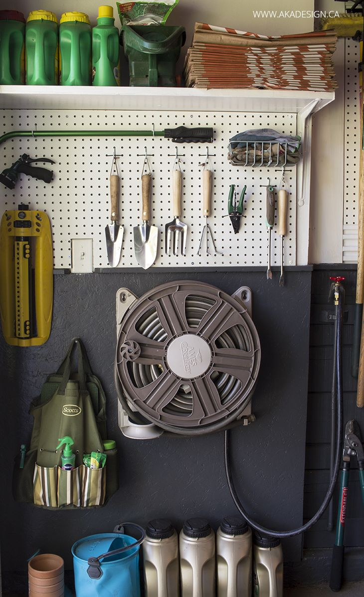 The garage is one of those areas in your home where it's easy for things to quickly become cluttered and disorganized. Luckily, this DIY garage makeover from Shannon, of AKA Design, can help you organize your garage in no time at all. Shannon added a pegboard tool wall as well as a fresh coat of Bleached Linen and Asphalt Gray to give her garage a whole new look.