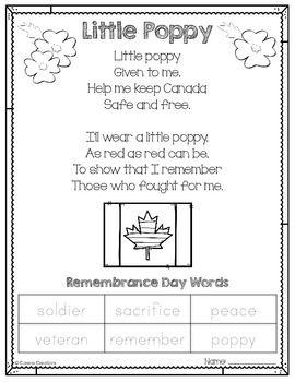 Little Poppy Poem and Craft   FREE #remembrancedaycraftsforkids
