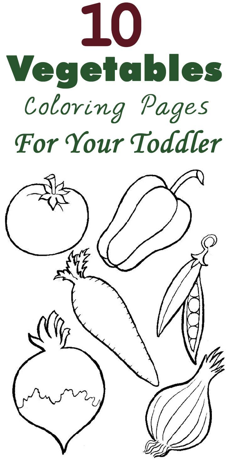 Coloring sheet for toddlers - 10 Vegetables Coloring Pages For Your Toddler
