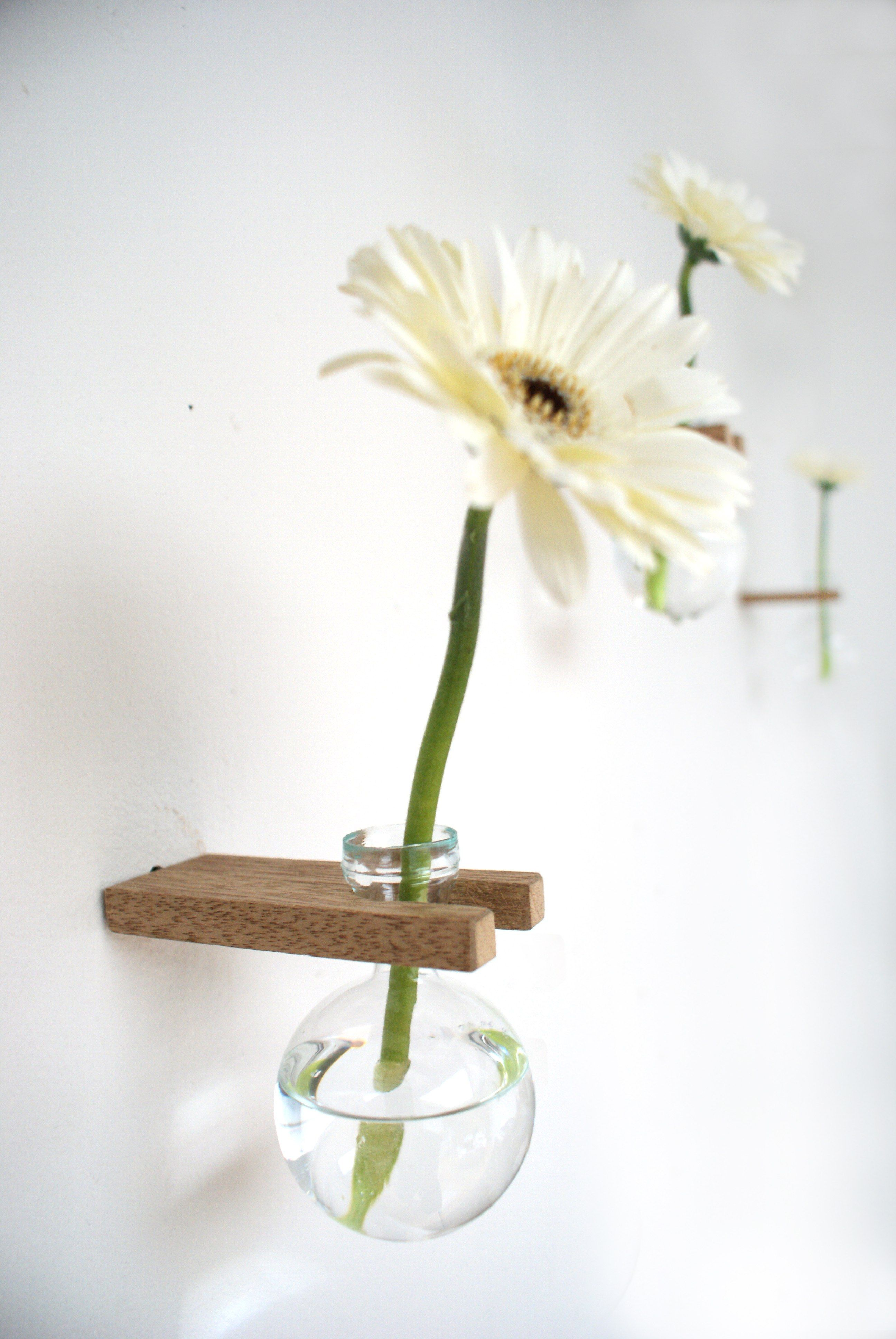 Shop Wooden Glass Wall Vase On Crowdyhouse Glass Wall Vase Wall Vase Wooden Vase