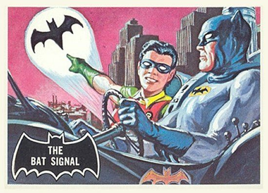 1966 Batman Black Bat Card No 03 The Bat Signal Batman Cartoon