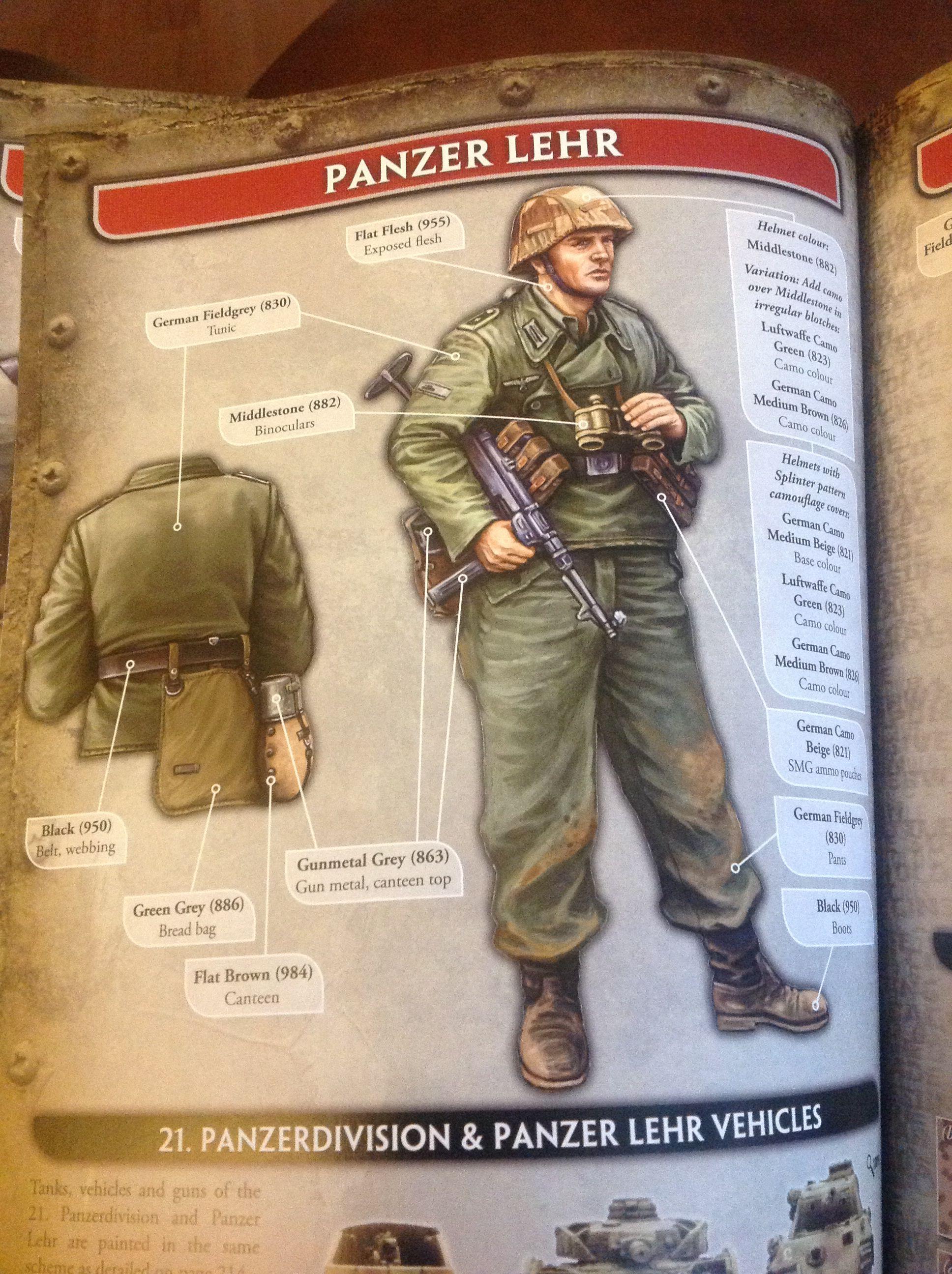 Panzer lehr | Bolt Action paint guide | German uniforms, Ww2