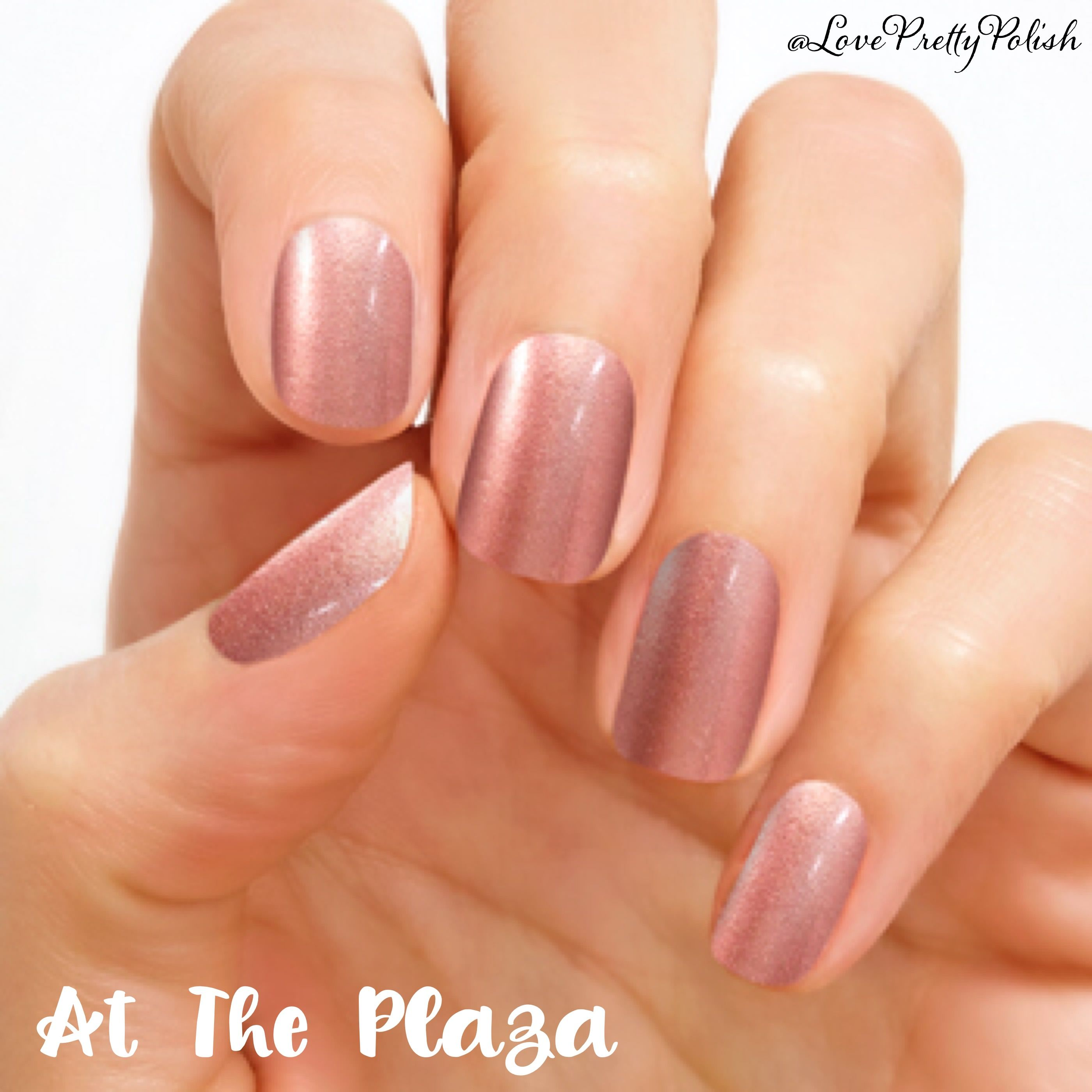 At The Plaza Pale Pink Gets A Shimmery Update With At The Plaza Nails Shimmer Finish Each Set Includes 16 Color Street Nails Nail Polish Strips Color Street