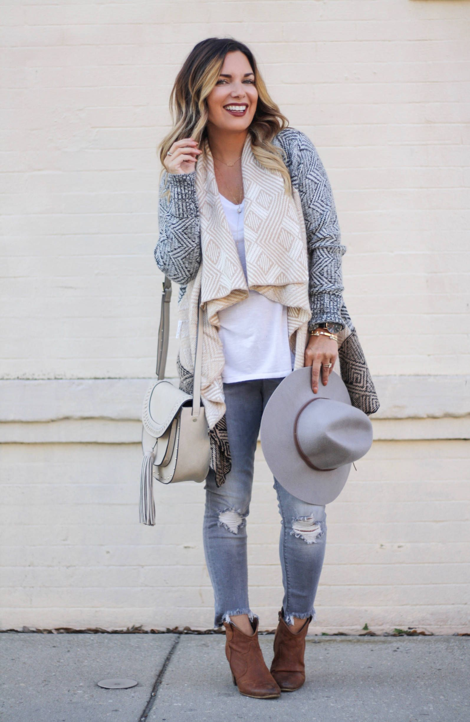 the perfect neutral cardigan