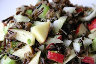 Wild Rice w/apples- great texture!