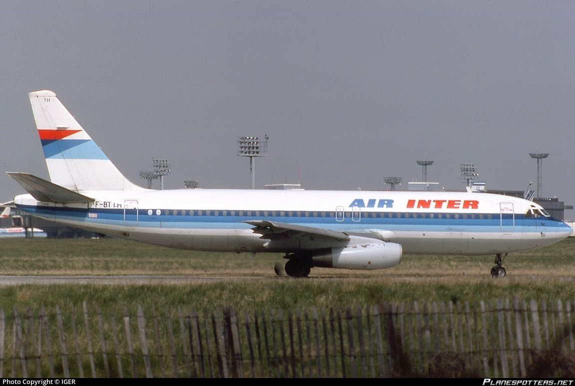 FBTTH Air Inter Dassault Mercure 100 photographed at