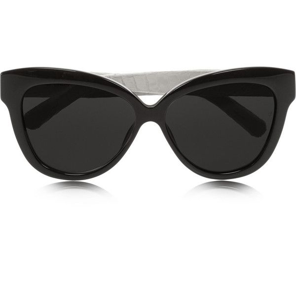 b4b44722eef4 Linda Farrow Cat eye acetate and elaphe sunglasses (7.508.245 IDR) ❤ liked  on Polyvore featuring accessories