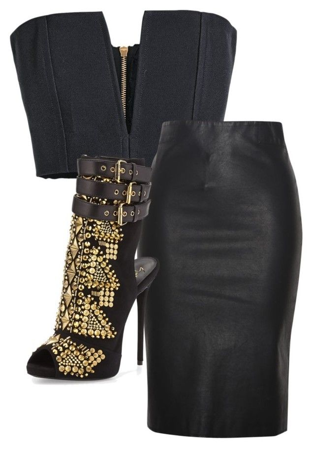 """Untitled #188"" by perfect-misfit-16 ❤ liked on Polyvore featuring Balmain, Relaxfeel and Giuseppe Zanotti"